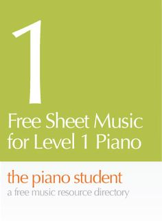 Free Piano Sheet Music for Level One Piano | thepianostudentblog - CLICK HERE for sheet music https://thepianostudent.wordpress.com/2008/04/06/free-printable-sheet-music-level-1easy/