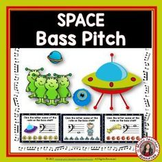 Reinforce student knowledge and recognition of the BASS STAFF notes with this SPACE fun deck. There are 26 cards in the deck. Each card gives the student one bass note to identify. This game uses both bass staff lines and spaces. ♫ ♫ #musiceducation #musicteacherresources #mtr #boomcardsformusic #boomcards Music Teacher Resources