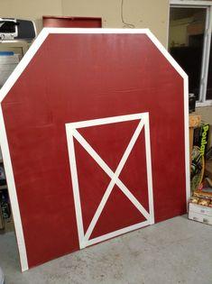 Barnyard bash !! Cardboard barn with tape