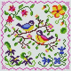 Love song hama beads spring project - chart by Cross Stitchers Club