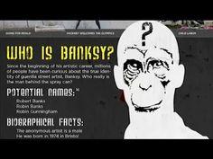 History of BANKSY Graffiti Art (HD720p) - YouTube Banksy Graffiti, Street Art Banksy, Bansky, Middle School Art, Art School, 8th Grade Art, Popular Art, Stencil Art, Renaissance Art