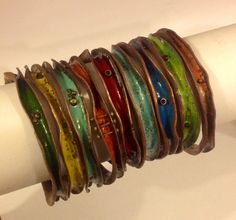 Enameled Wave Bangles, Robyn Cornelius, Little Rock Jewellery Studio