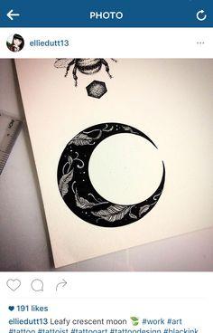 Moon Tattoos, S Tattoo, Negative Space Tattoo, Mandala, Moon Drawing, Month Flowers, Moon Tattoo Designs, Vintage Drawing, Zen Doodle