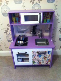 Ikea Duktig Relooking Trop Violet Mais Bonne Dose De Papier Colé Play Kitchensikea