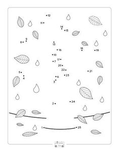 Fall Dot to Dot Worksheets - counting to 25 - Itsy Bitsy Fun Counting Activities, Craft Activities For Kids, Worksheets For Kids, Counting Worksheet, Motor Activities, Kids Crafts, Dot To Dot Printables, Free Printables, Dot To Dot Puzzles