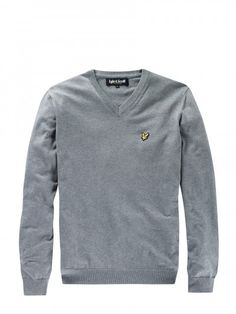 Lyle and Scott KN019V02 V Neck Cotton Knitwear, from http://www.ApacheOnline.co.uk
