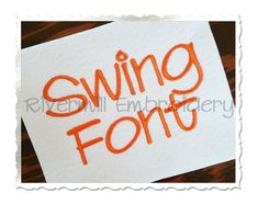 """$1.951 1/2"""" Inch Size ONLY Swing Machine Embroidery Font"""