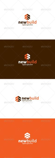New Build  Logo Design Template Vector #logotype Download it here:  http://graphicriver.net/item/new-build-logo/8406071?s_rank=962?ref=nesto