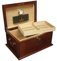 Caesar Antique 50 Cigar Humidor Walnut Finish  #cigars #humidor #cigar #cigarmanor #Bourbon #humidors #cigarart #cigaroftheday #cigarsmokers #cigarlifestyle