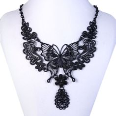 Vintage Style Huge Black Butterfly Statement by MiumiuJewelry, $13.99