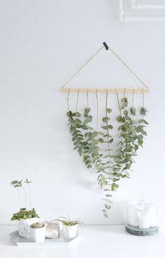 DIY eucalyptus hanger