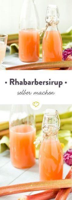 Als Topping für kühles Eis, oder als süß-saure Note im erfrischenden Cocktail - ein Spritzer Rhabarbersirup macht Drinks und Desserts fit für den Frühling.