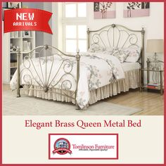 Elegant Brass Queen Metal Bed Add elegant style to your home décor with  this traditional-styled bed featuring a beautiful headboard and footboard  design ... b224363ec8