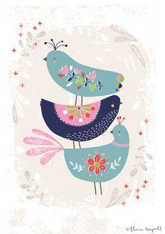Folk Birds Flora Waycott
