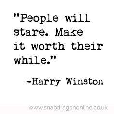 Harry Winston quote