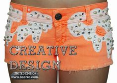 The latest trend: Jeweled Embellishments Design Studio, Exclusive Collection, Creative Design, Embellishments, Latest Trends, Casual Shorts, Jewels, Fashion Trends, Women