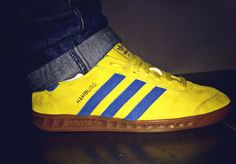 MY ADIDAS! - THE YELLOW/BLUE COMBO OF THESE HAMBURG MALMO'S MAKE THEM ONE OF THE MOST DESIRABLE HAMBURGS EVER RELEASED - WEAR THEM WITH PRIDE AND JUST A LITTLE ATTITUDE!