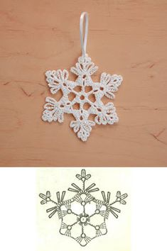 Wonderful DIY Crochet Snowflakes With Pattern WonderfulDIY com - Salvabrani Crochet Snowflake Pattern, Christmas Crochet Patterns, Crochet Snowflakes, Holiday Crochet, Crochet Motif, Diy Crochet, Irish Crochet, Crochet Crafts, Crochet Doilies