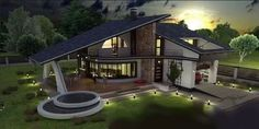 Luxury Villa Inspired From Macedonia – Amazing Architecture Magazine Small House Interior Design, Country House Design, Duplex House Design, Dream Home Design, Home Design Plans, Modern House Design, Architecture Cool, Online Architecture, Architecture Magazines