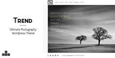 ThemeForest - Trend - Photography WordPress Theme  Free Download