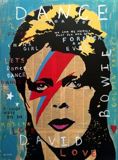 Large DAVID BOWIE Original Painting Signed 30 by PaintingsbyVenus