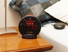 Sonic Bomb Loud Dual Alarm Clock with Bed Shaker