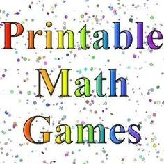 Paljon tulostettavia matematiikkapelejä 1-34 -luokille