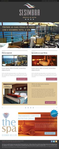 Sesimbra hotel newsletter! Email Design, Web Design, Email Web, Spa, Graphic Design Inspiration, Zine, Portugal, Stationery, Google Search