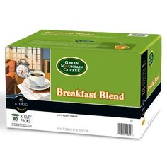 Green Mountain Coffee Breakfast Blend K-Cup Packs, 80 Count - http://hotcoffeepods.com/green-mountain-coffee-breakfast-blend-k-cup-packs-80-count/