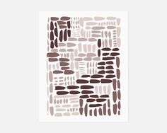 Organic + Soft.  A minimalist abstract art print featuring uneven painterly brush strokes in a dusty monochromatic mauve palette.  Created from an original gouache painting. Click to shop www.jaymeesrp.com
