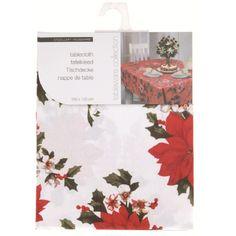 Tafelkleed wit met kerstster 180 x 130 cm  Dit tafelkleed met kerstprint is wit van kleur en is gemaakt van polyester. Afmeting: 180 x 130 cm. Wasbaar op 30 graden.  EUR 7.50  Meer informatie