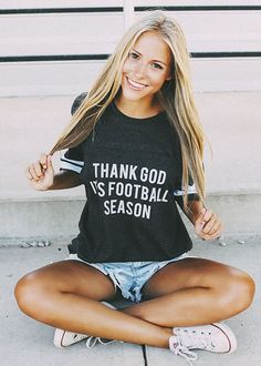 thank god it's football season jersey t-shirt! gameday style from shopriffraff.com
