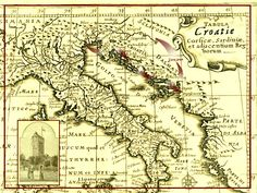 Vintage Map of Croatia