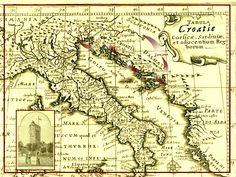 Vintage Map of Croatia