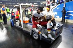 Redskins vs. Lions;   -   October 23, 2016  -  20-17, Lions  -   Washington Redskins cornerback Josh Norman is carted off the field during the second half of an NFL football game against the Detroit Lions, Sunday, Oct. 23, 2016 in Detroit.