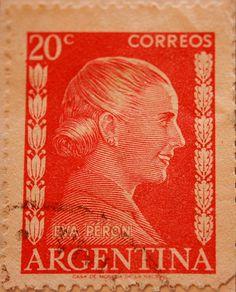 - Eva Perón. A este sello lo llevaban muchas cartas... desde Argentina al mundo.