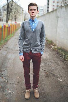 Bershka Cardigan, Topman Pants, Asos Shirt, Topman Shoes