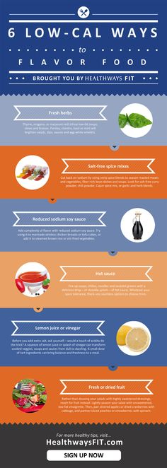6 easy ways to add flavor to low-calorie foods [Infographic]
