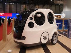 MDI Airpod. The first born of a serie of compressed air powered cars.  100 Km with 1€.