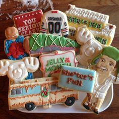 National lampoons Christmas vacation themed cookies these are fantastic! Merry Little Christmas, Christmas Fun, Holiday Fun, Christmas Baking, Holiday Ideas, Festive, Holiday Parties, Lampoon's Christmas Vacation, Christmas Travel