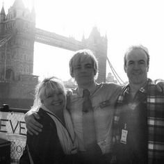 <3 Stormie, Ross & Mark Lynch ross is in his muppets most wanted costume <3