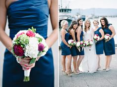 Navy Blue and Pink wedding colors.   Photography by: Joe & Patience