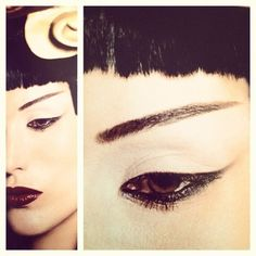 ashyo: asian makeup style fashion eye brows look inspiration (Taken with instagram)
