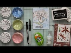 Watercolouring With Nuvo Embellishment Mousse :D - YouTube