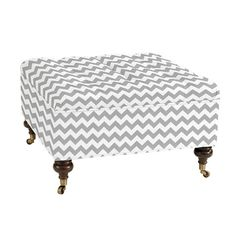 {can be custom upholstered - marimekko?} Square Tufted Storage Ottoman with casters from Ballard Designs $400-600