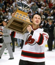 Claude Lemieux wins the Conn Smythe Trophy for the MVP of the 1995 Stanley Cup Playoffs New Jersey Devils, Mike Bossy, Ice Warriors, Famous Sports, Stanley Cup Playoffs, Nhl News, Nhl Players, Tampa Bay Buccaneers, Ice Hockey