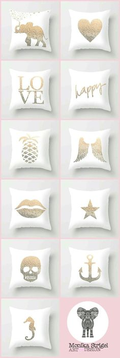 The mix n match gold pillow collection