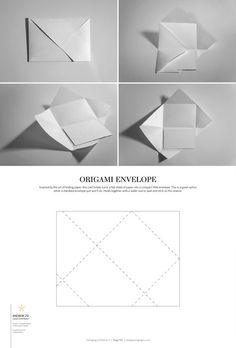 27 Beautiful Picture of Origami Envelopes & Letter Folding . Origami Envelopes & Letter Folding Packaging Dielines Ii The Designers Book Of Packaging Dielines
