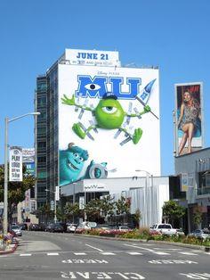 Monsters University movie billboards...