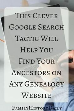 Genealogy Tips: Find hidden genealogy record collections on FamilySearch with this trick. This free genealogy research site can help you grow your family tree fast. Free Genealogy Sites, Genealogy Forms, Genealogy Search, Family Genealogy, Genealogy Chart, Genealogy Humor, Free Genealogy Records, Ancestry Records, My Family History